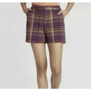A NEW DAY Womens Chino Plaid Shorts Size 12 NWT